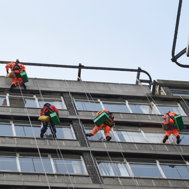 Abseiling building surveys